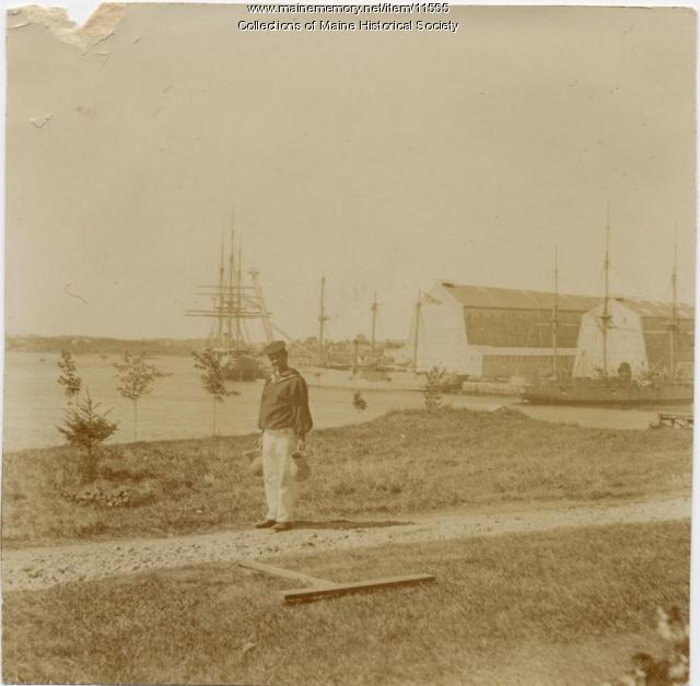 Ships in harbor, Kittery Navy Yard, 1868