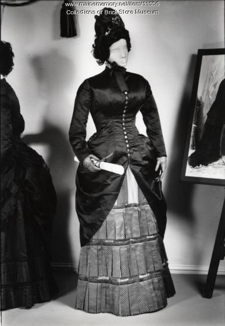 Two piece wedding dress, 1885
