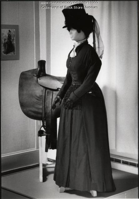 Two-piece dark suit worn by Helen Gammon Patrick, York, ca. 1877