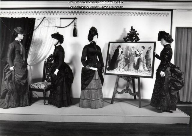 Four dresses, ca. 1870