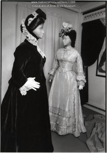 Two dresses, ca. 1870s