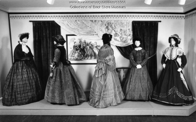 Five dresses, ca. 1860s