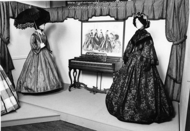 Silk dress, ca. 1860