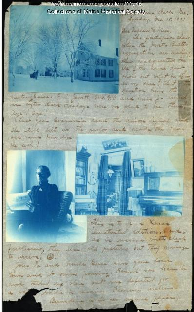 Lizzie Jewett Butler Christmas letter, 1901