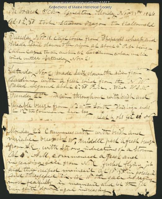 Diary of Capt. John Davison, 1846