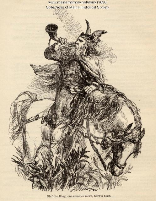 "Illustration for poem ""The Saga of King Olaf"", ca. 1880"