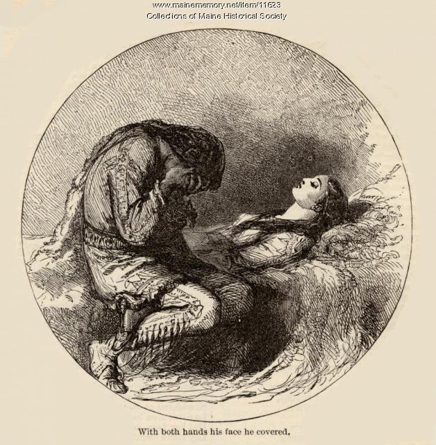 """""""Песнь о Гайавате"""" иллюстрация, ок.  1880"""