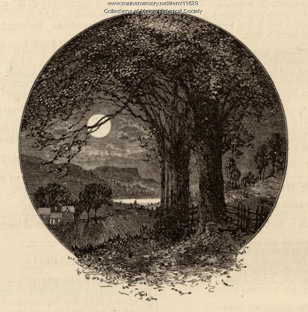 lllustration to accompany the poem The Harvest Moon, c. 1880