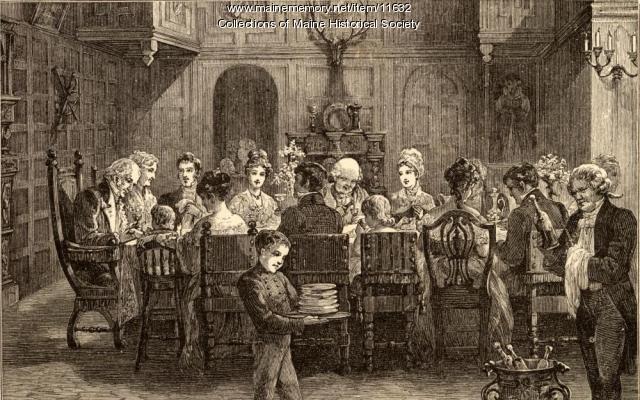 Longfellow poem illustration, ca. 1880