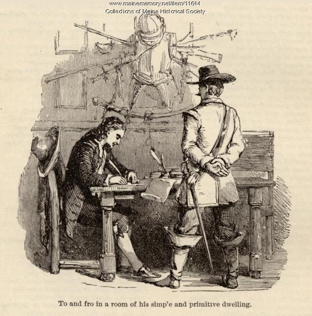 Illustration to accompany the poem The Courtship of Miles Standish, c. 1880