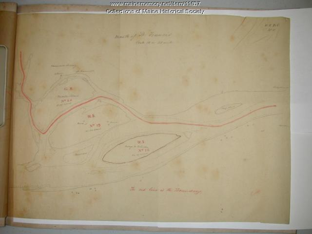 Map of the Mouth of the St. Francis River, 1843
