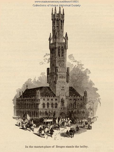 Illustration to accompany the poem The Belfry of Bruges, c. 1880