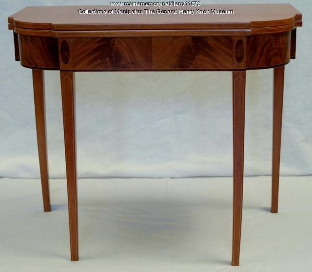 Frothingham card table, 1796