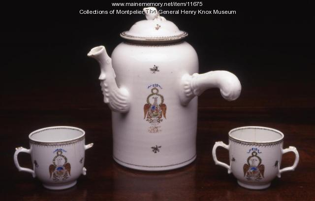 Society of the Cincinnati chocolate pot, ca. 1790