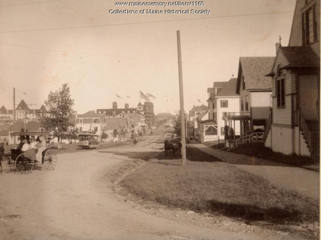 Old Orchard looking toward the pier, circa 1900