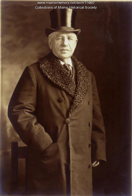 Senator William Pierce Frye, Lewiston, 1910