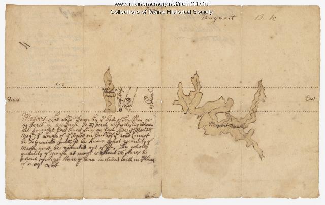 Plan of Maquoit Meadows, ca. 1720