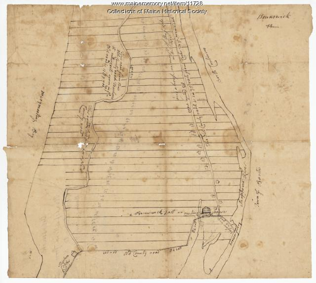 Map of Brunswick, plan of a road, 1764
