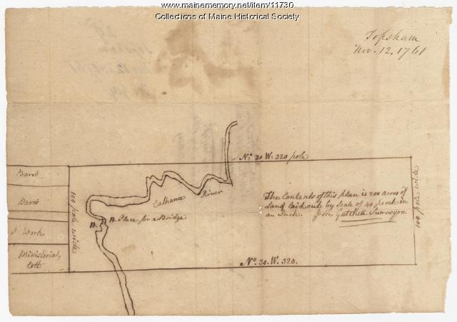 Map of Topsham, 1761