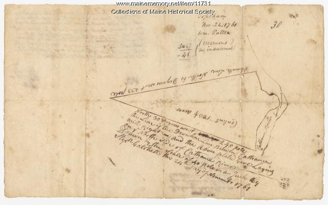 Map of Topsham, Maine, the William Patten lot, 1761, Map #30