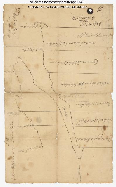 Merriconeag Neck, 1749