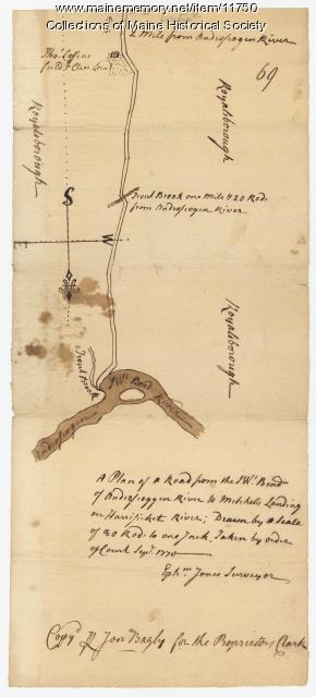 Map of an area in Durham, 1770, Map #69