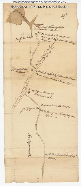 Map of North Yarmouth, ca. 1760