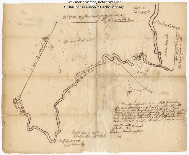 Map of Topsham, 1761, John Robinson lot, Map #32