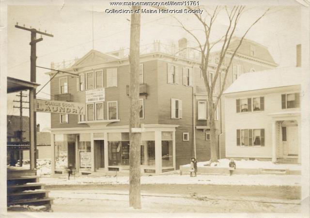 Charlie Goon Laundry, Washington Street, Sanford, ca. 1915