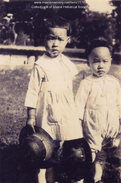 Wong children, Portland, 1923