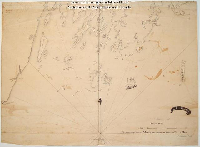 Chart of the Coast of Maine, ca. 1890
