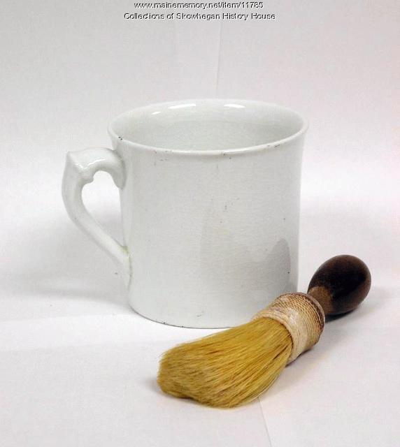 Civil War shaving mug and brush