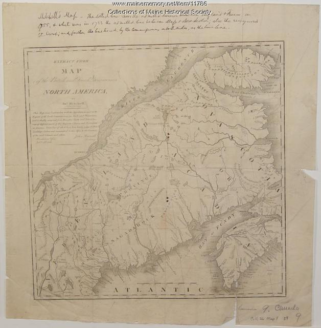 Contested Northeast boundary map, 1843