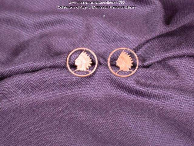 Indian head cuff links