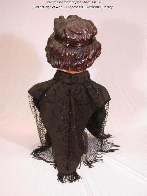 Lady's black evening dress cape, 1897
