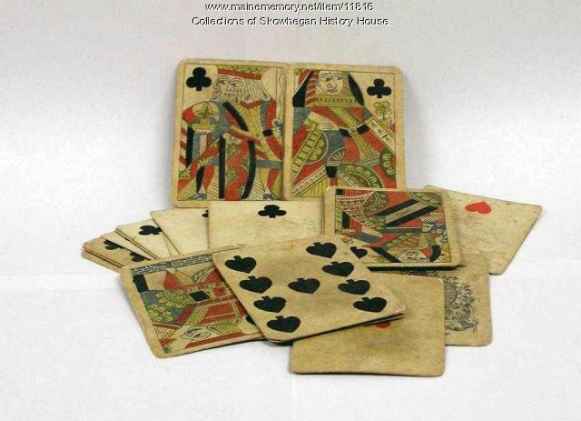 Alexander Crawford eucre cards, Skowhegan, 1864