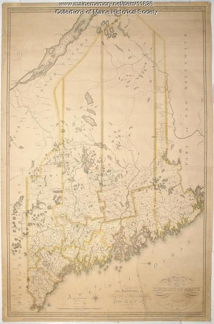 Moses Greenleafs map of the District of Maine 1815 Maine Memory