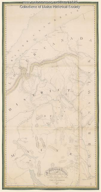 Map of the country explored, Maine and New Brunswick, ca. 1818