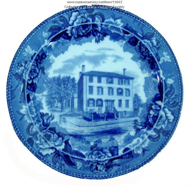 Longfellow birthplace plate, ca. 1910