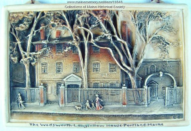 Souvenir Plaque of the Wadsworth-Longfellow House, Portland