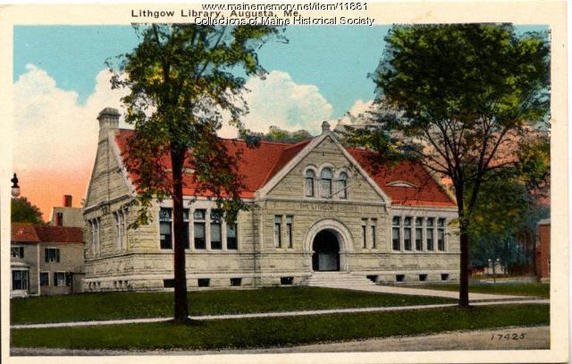 Lithgow Library, Augusta, ca. 1900