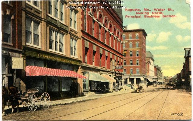 Water Street, Augusta, ca. 1910