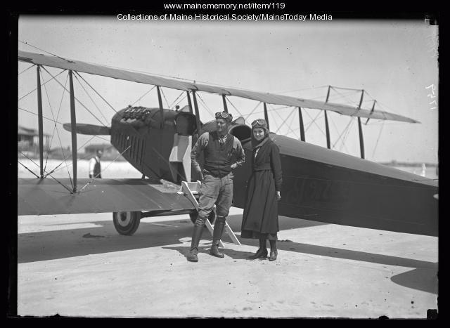 Biplane, Old Orchard Beach, ca. 1920