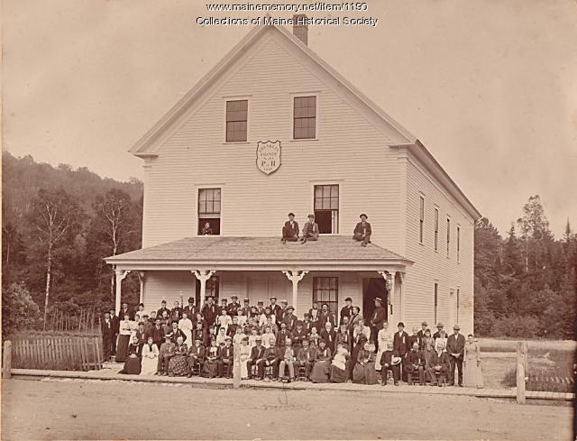 Franklin Grange Hall, Bryant Pond, ca. 1892
