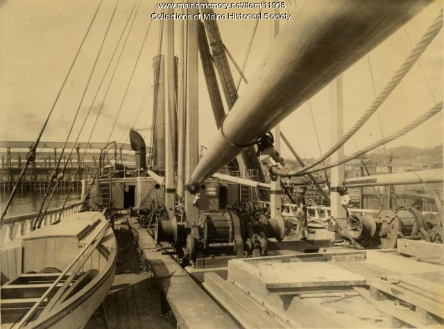 The Deck of the Steamer Ripogenus