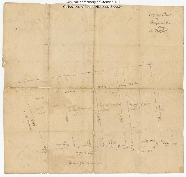 Flying Point at Maquoit Bay in Freeport, Map #66, ca. 1770