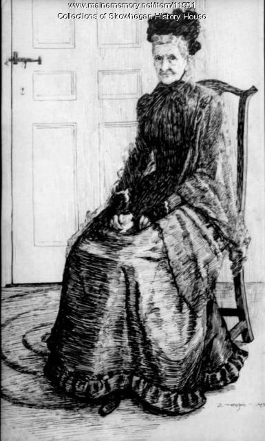Abby Tilton, Skowhegan, ca. 1907