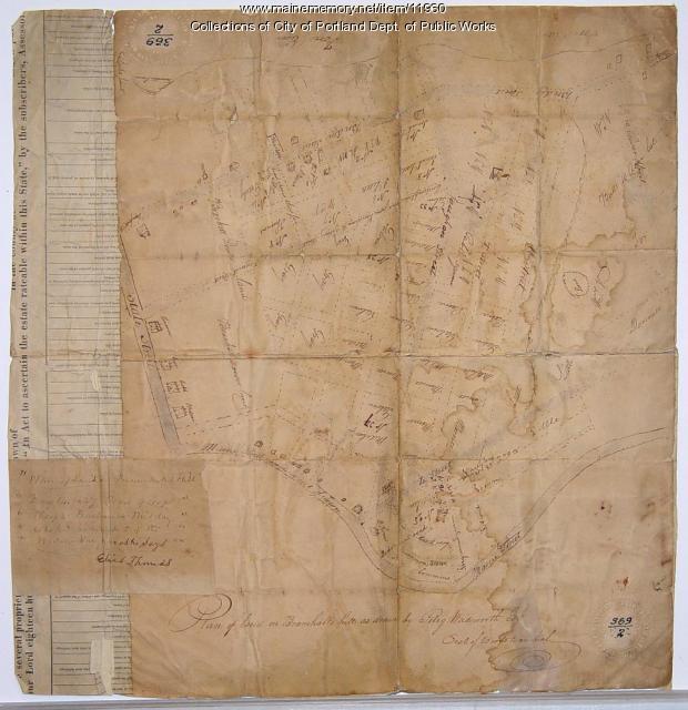 Plan of land on Bramhall Hill by Peleg Wadsworth