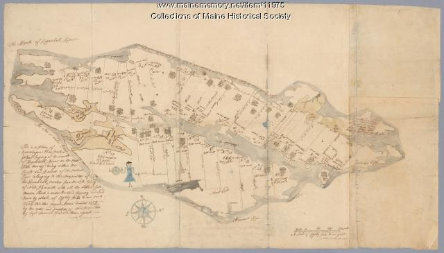 Plan of Ruscohegon Alias Parker's Island, Georgetown, 1759