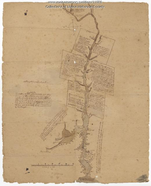 Plan of the Kennebec River describing the Plymouth patent, ca. 1719
